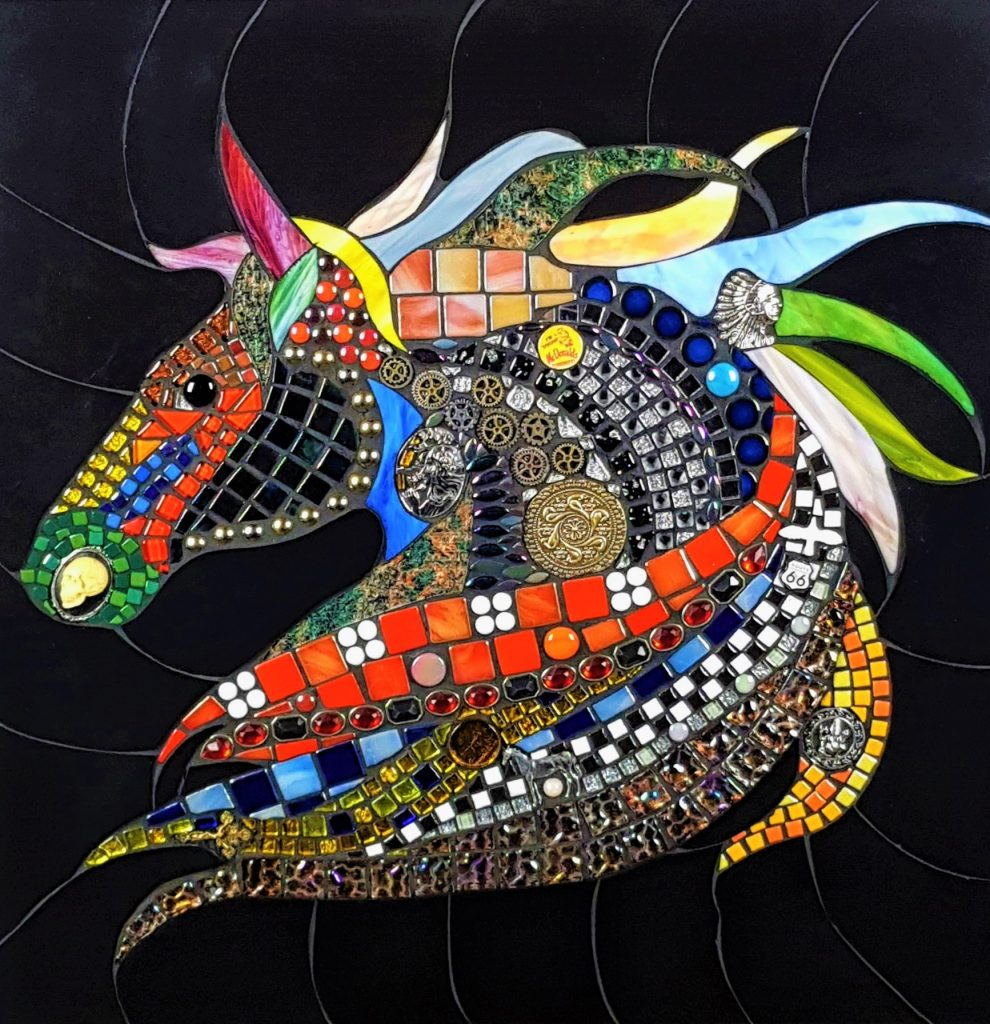 "mosaic ""Crazy Horse"" Tony Welch"
