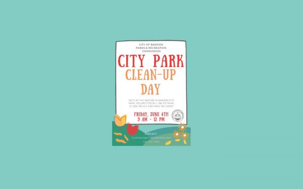 City Park Cleanup Day June 4